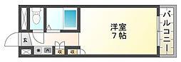 プレアール西冠Ⅱ[3階]の間取り
