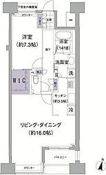 アビティ目黒 7階2LDKの間取り