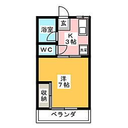 アビタシオン岡部[2階]の間取り