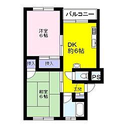 エスポワール南浦和[4階]の間取り