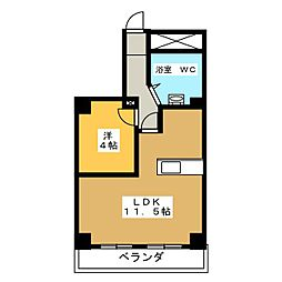 西穂高ハイツ[2階]の間取り