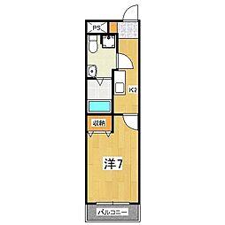アルバローザ京都[4階]の間取り