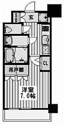 アルティザ淡路駅東 12階1Kの間取り