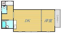 東京都杉並区下高井戸5丁目の賃貸マンションの間取り