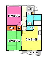 エフハイム3[2階]の間取り
