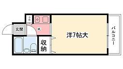 兵庫県西宮市東鳴尾町2丁目の賃貸マンションの間取り