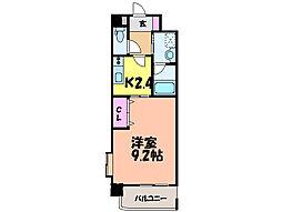 愛媛県松山市中村3丁目の賃貸マンションの間取り