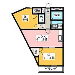 ヴィラメゾンNORIKA[2階]の間取り