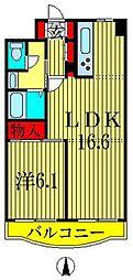 東京都墨田区錦糸3丁目の賃貸マンションの間取り