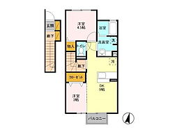 リッツハウスE-AKATSUKA[203号室]の間取り