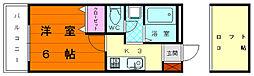 福岡県福岡市東区松崎3丁目の賃貸マンションの間取り