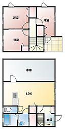 [タウンハウス] 大分県中津市大字大塚 の賃貸【/】の間取り
