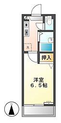 アプリコットミワ[2階]の間取り