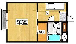 中島ビル[108号室]の間取り
