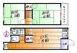 [テラスハウス] 大阪府吹田市千里山高塚 の賃貸【/】の間取り