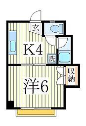 サンコーポ・マスダ[4階]の間取り