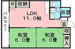 南薫ハイツ[3階]の間取り