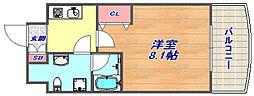 クレストコート神戸・灘[402号室]の間取り