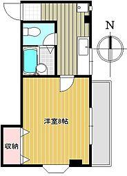 東京都目黒区自由が丘3丁目の賃貸マンションの間取り