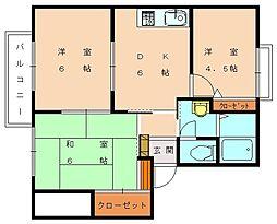 ヴィレッジSUE[2階]の間取り