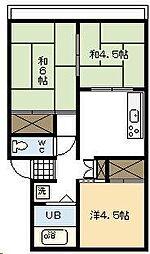 栄アパート[206号室]の間取り