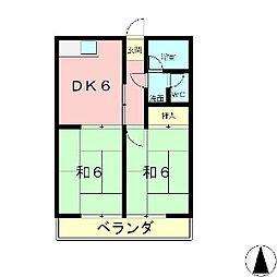 滋賀県大津市美崎町の賃貸マンションの間取り