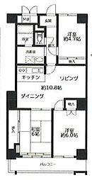 JR山手線 高田馬場駅 徒歩4分の賃貸マンション 6階3LDKの間取り