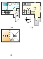 (仮称)アースクエイク白水南棟(ハクスイ)[1階]の間取り