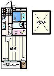 東京都荒川区東日暮里の賃貸アパートの間取り