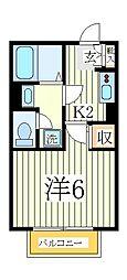 SKYFRAT[1階]の間取り