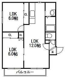 バードランド24[1階]の間取り