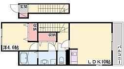 JR山陽本線 土山駅 バス15分 小池前停下車 徒歩3分の賃貸アパート 2階1LDKの間取り