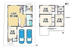 阪急京都本線 富田駅 徒歩26分 4LDKの間取り
