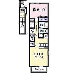 クリプトメリア アヴェニュ−[2階]の間取り