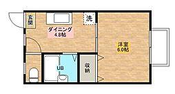 リバティハウス[112号室]の間取り