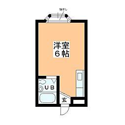 チェリム霞ヶ関[107号室]の間取り