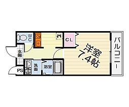 大阪府堺市西区上野芝向ケ丘町2丁の賃貸マンションの間取り