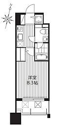 プラウドフラット新大阪[10階]の間取り