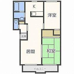 プロスパー15[4階]の間取り