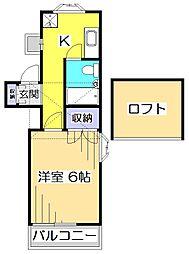 パールハイツ[2階]の間取り