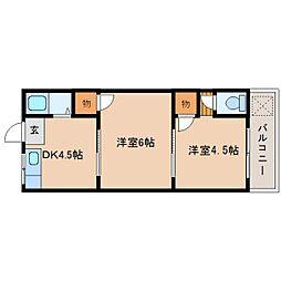 静岡県静岡市駿河区池田の賃貸アパートの間取り