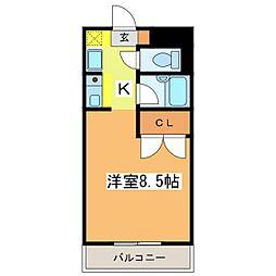 広島県東広島市高屋町稲木の賃貸マンションの間取り