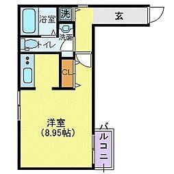 MODULOR赤坂 1階1Kの間取り