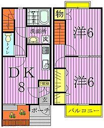 [テラスハウス] 千葉県柏市南増尾7丁目 の賃貸【/】の間取り