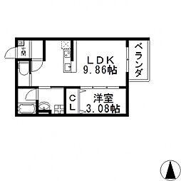 la glaycine東大阪(ラ グリシーヌ ヒガシオオサカ)[302号室号室]の間取り