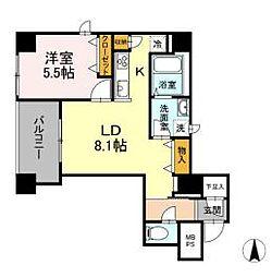 JR山手線 神田駅 徒歩4分の賃貸マンション 2階1LDKの間取り