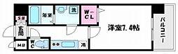 レジュールアッシュKYOUBASHI 1階1Kの間取り