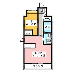 仮)中区正木三丁目自宅併用店舗マンション[2階]の間取り