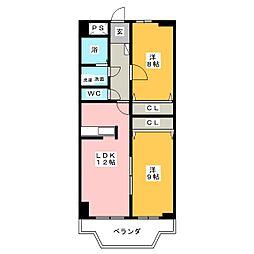 T.Fコンフォート[4階]の間取り