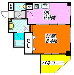 幸永・マンション 203号室[2階]の間取り